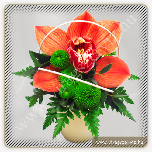 Flower Arrangament - Orchid and Santini