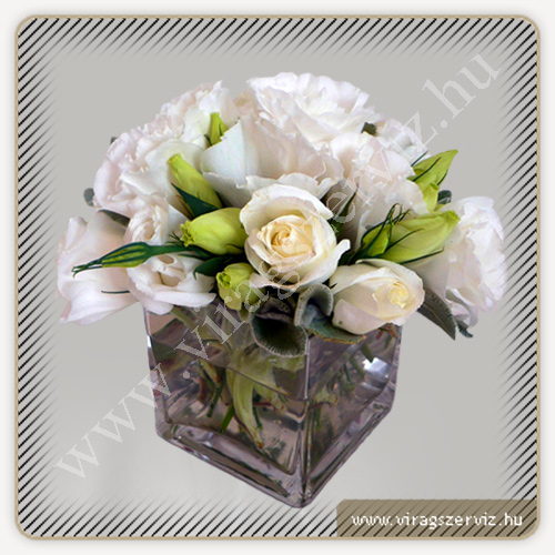 Flower Arrangement - Roses and Lisianthus