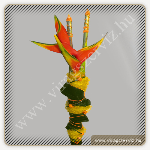 Heliconia with decoration