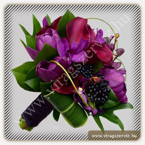 Purple Tulip and Pink Calla Bouqet
