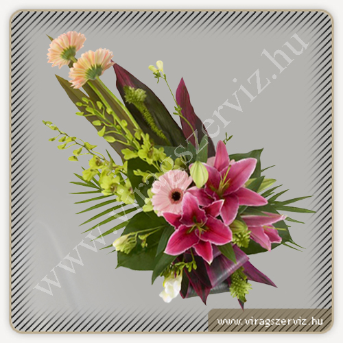 Funeral Bouqet - Lily, Gerbera and Orchid
