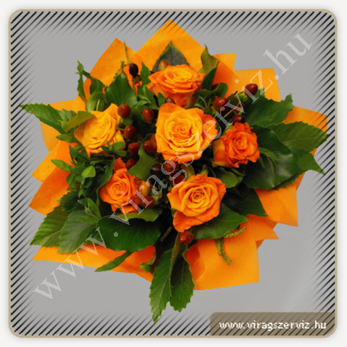 Orange Rose Bouqet