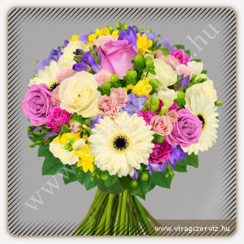 Pastel colour fragrant bouquet