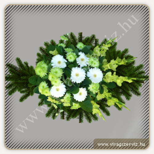 Funeral bouqet - White and green mixed flowers