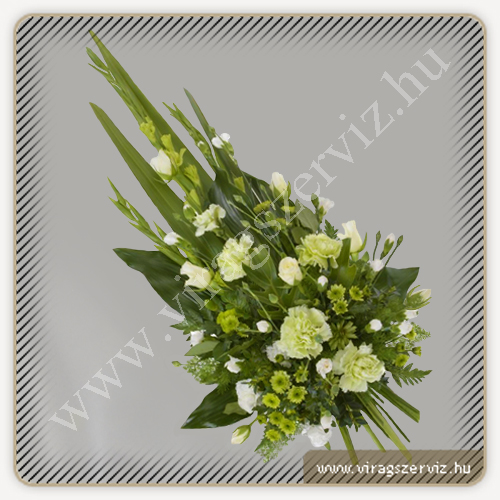 Funeral Bouqet - White and Green Flowers