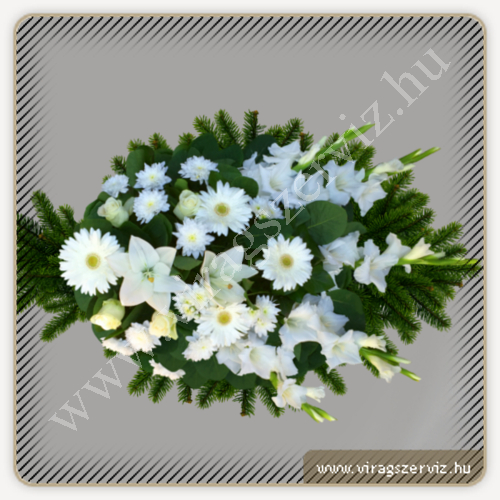 Funeral bouqet - White mixed flowers