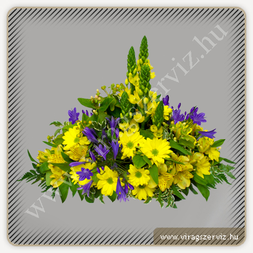 Flower Arrangament - Agapanthus and Yellow Flowers
